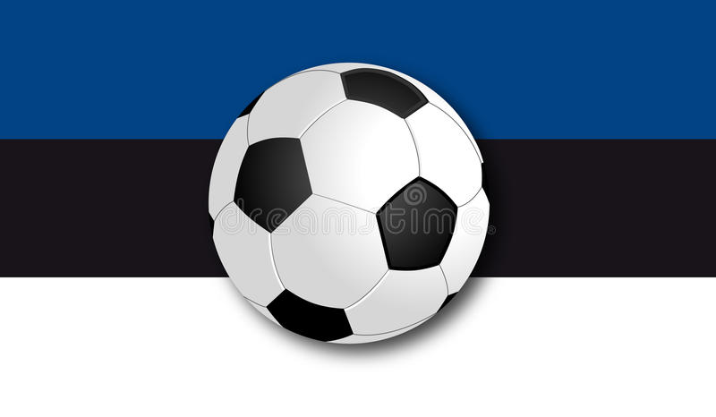 Soccerball με τη σημαία στοκ φωτογραφία με δικαίωμα ελεύθερης χρήσης