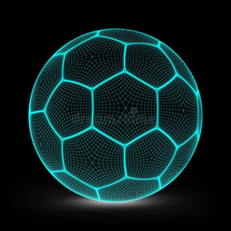 Soccerball ilustração royalty free