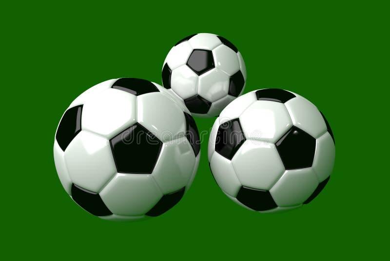 Soccerball 3d modellering stock afbeeldingen