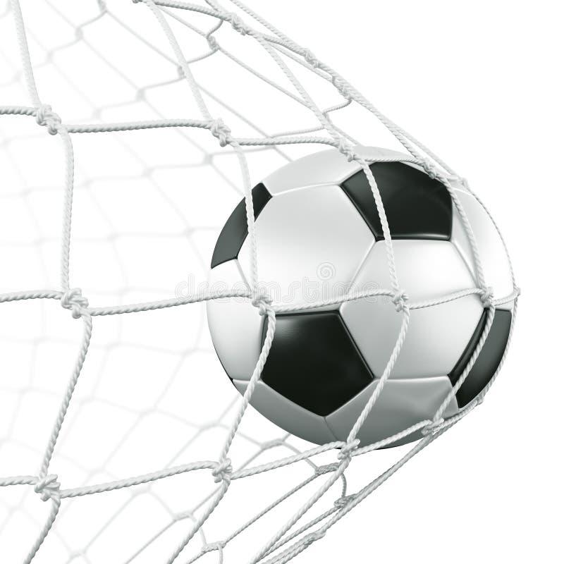 Soccerball im Netz stock abbildung