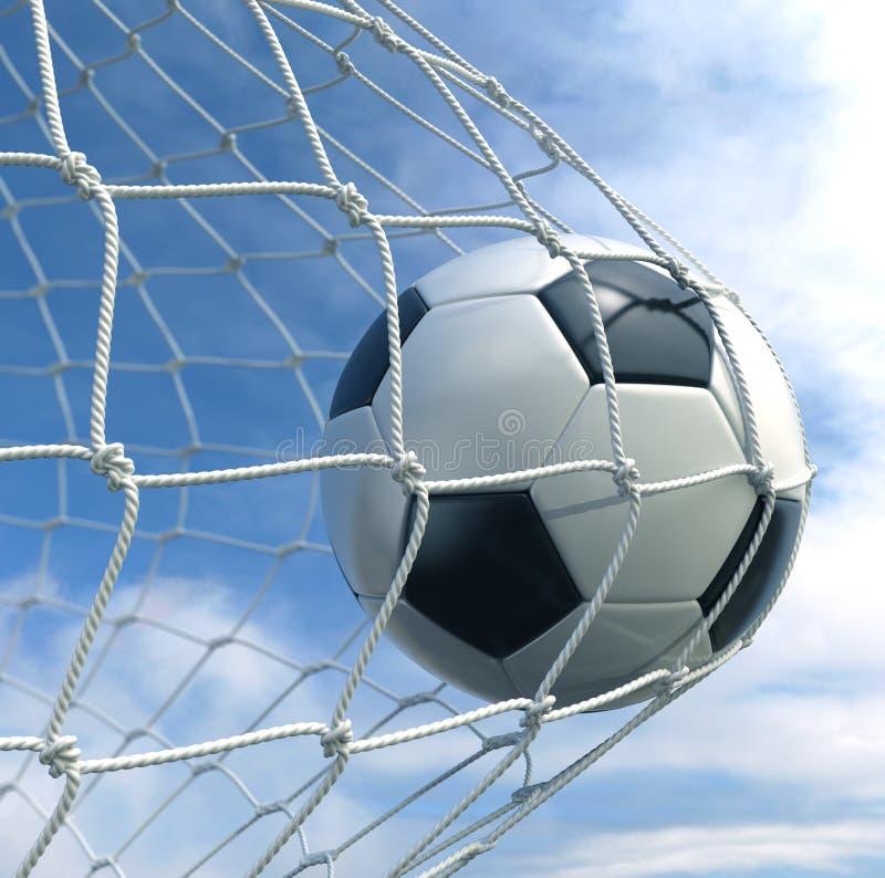 Soccerball nella rete illustrazione vettoriale