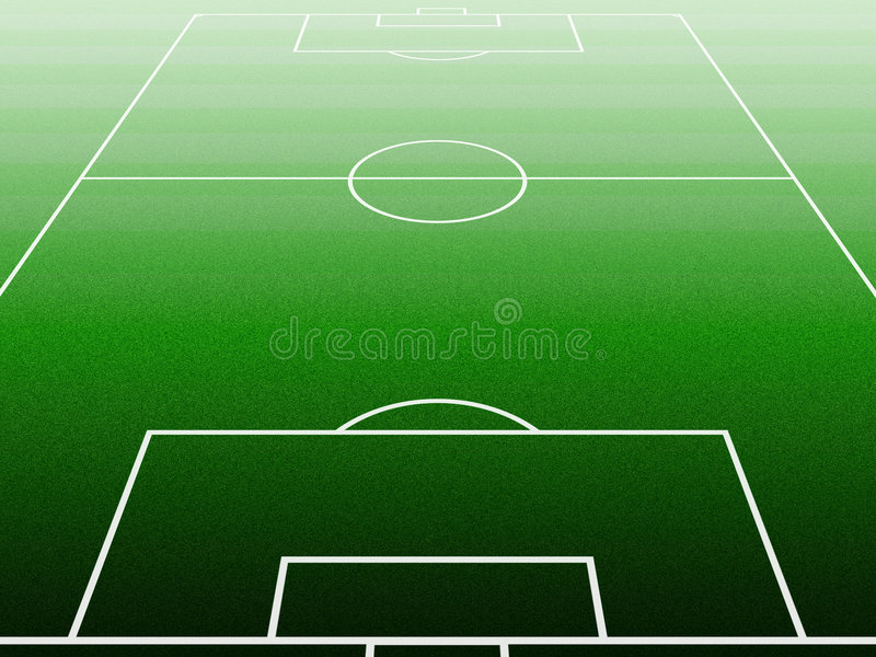 Soccerfield stock illustratie