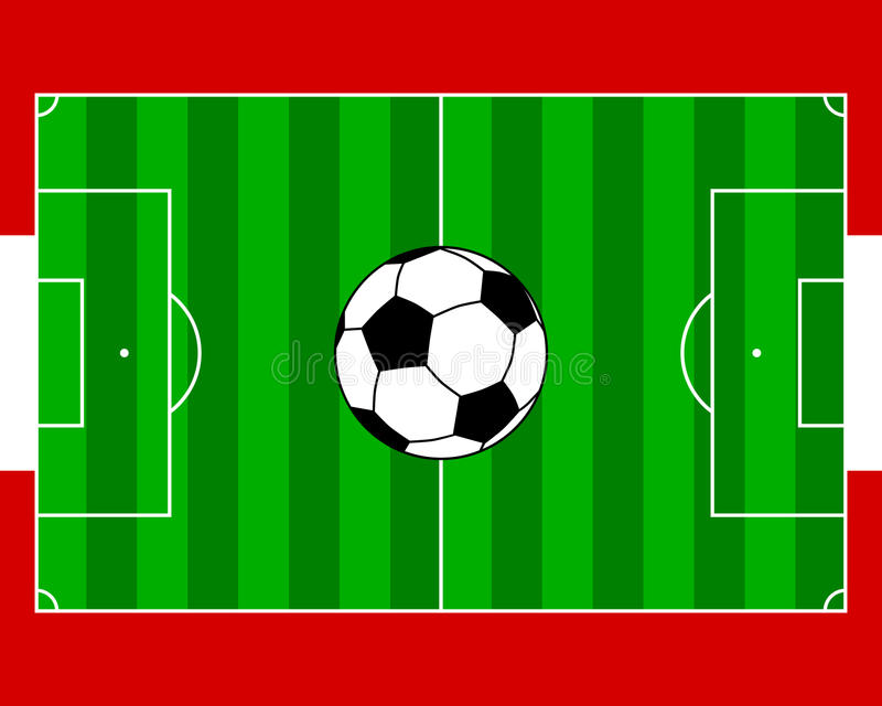 Soccerfield Austria. Detailed and accurate illustration of soccerfield Austria stock illustration