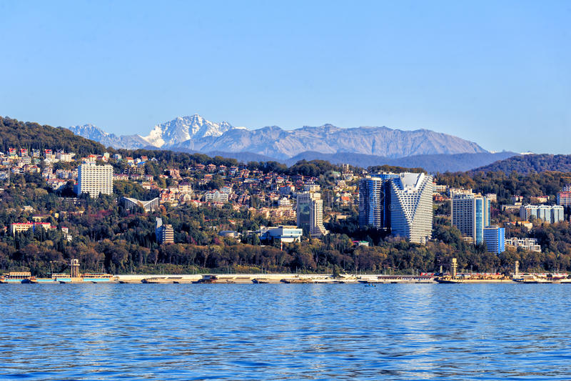 Sochi, ο περίπατος πόλεων στοκ εικόνες
