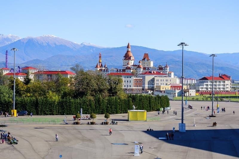 Sochi ολυμπιακό πάρκο Εγκαταστάσεις και έλξη στοκ φωτογραφίες