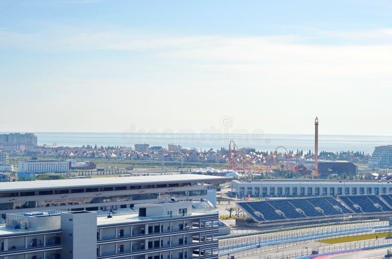 Sochi Autodrom formuła 1 Rosyjski Uroczysty Prix 2014 fotografia stock
