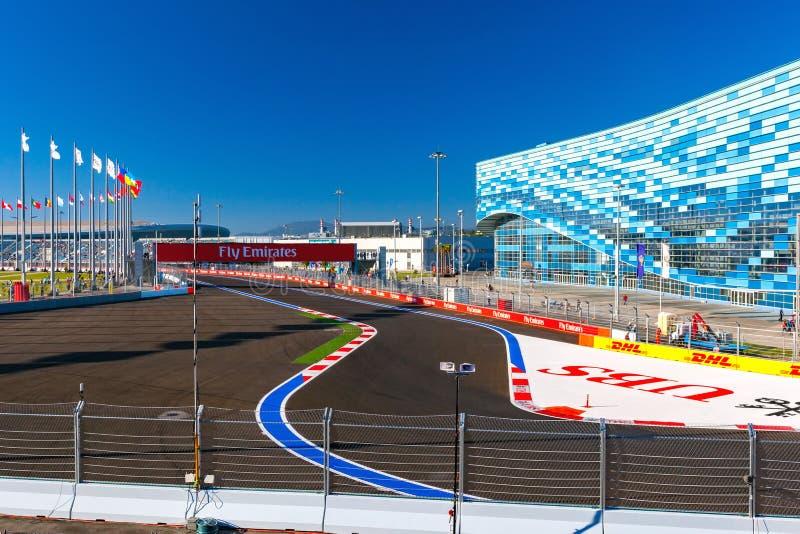Sochi Autodrom, Rússia - em novembro de 2014 imagens de stock