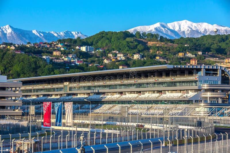 Sochi Autodrom, Rosja - May, 2016: zdjęcie stock