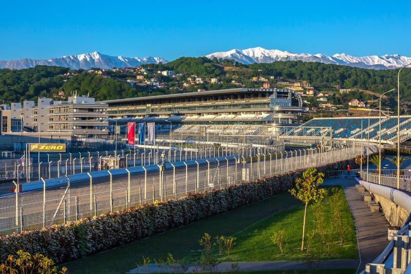 Sochi Autodrom, Rosja - May, 2016: obrazy stock