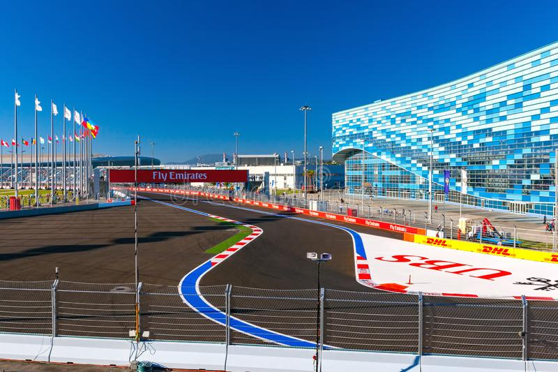 Sochi Autodrom, Rusia - noviembre de 2014 imagenes de archivo
