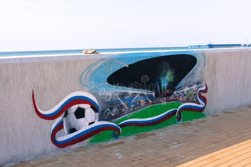Sochi. Football royalty free stock photo