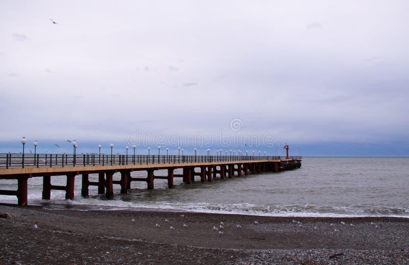 Sochi gromadzki Adler w zimie obraz stock