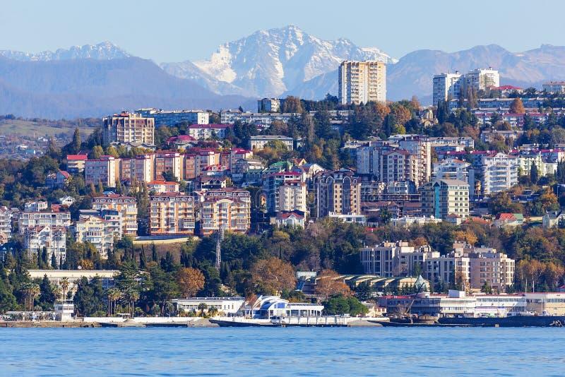Sochi, la 'promenade' de la ciudad fotografía de archivo libre de regalías