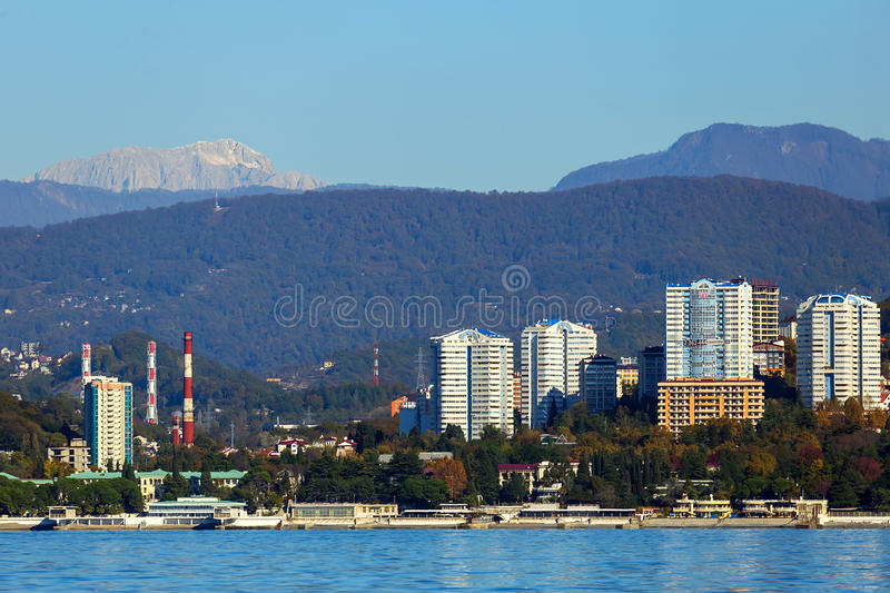 Sochi, la 'promenade' de la ciudad fotografía de archivo