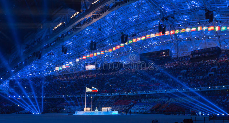 Sochi 2014 Olympic Games opening ceremony royalty free stock photos