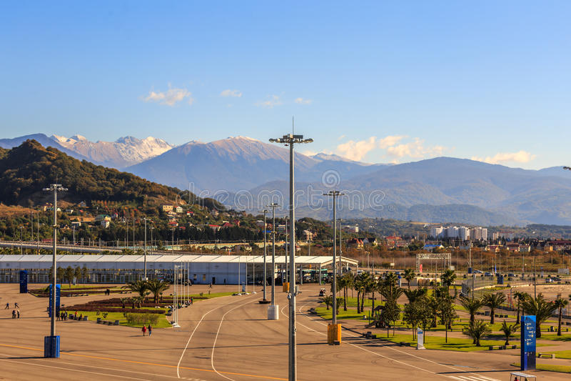 Sochi. Olympic Park. Facilities and attractions. stock photography