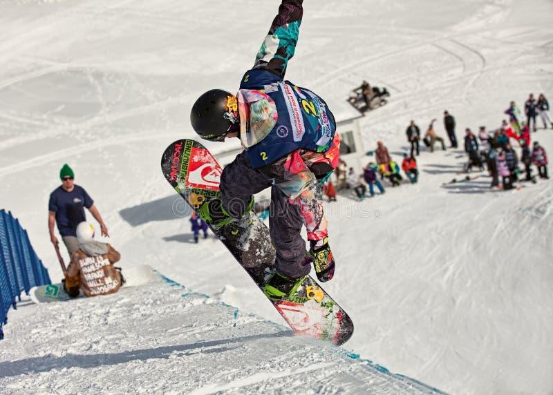 Sochi 2014 -Olympic Park, Roza Khutor, track royalty free stock image