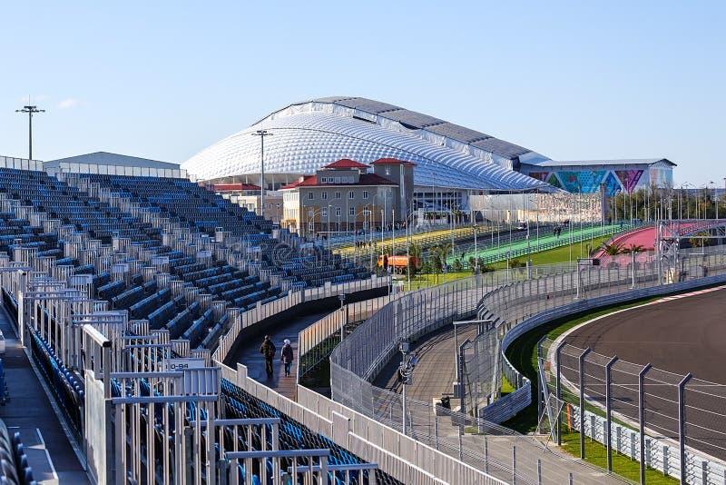 Sochi Parque olímpico Instalaciones y atracciones fotos de archivo libres de regalías