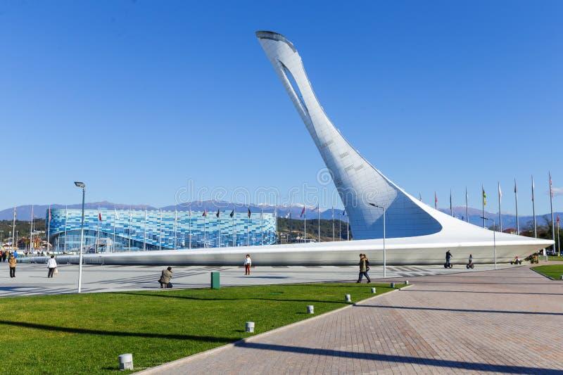 Sochi Parque olímpico Olimpiadas de invierno de los objetos fotografía de archivo