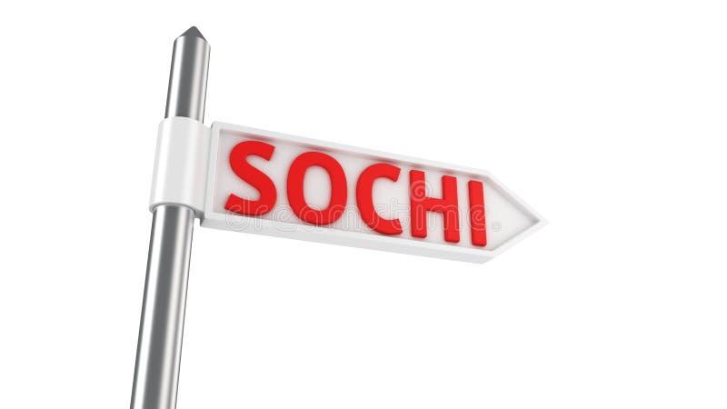 Sochi-Richtung lizenzfreie abbildung