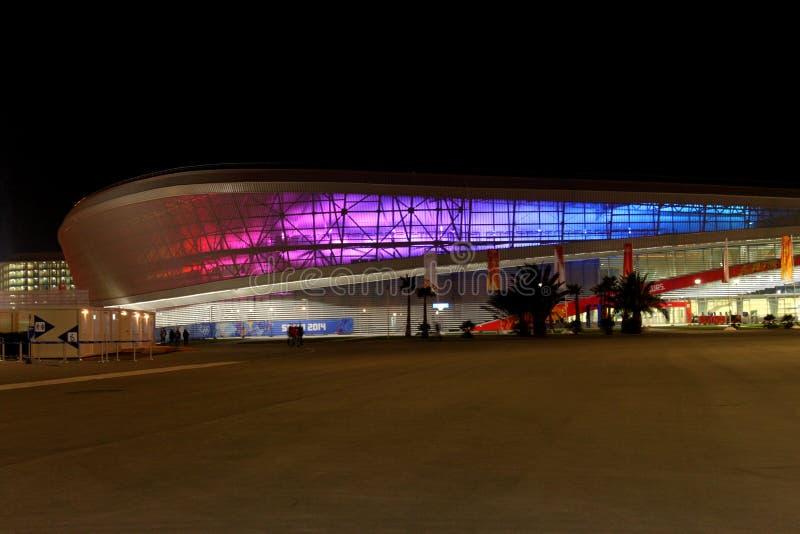 SOCHI ROSJA, LUTY, - 9, 2014: Olimpijski stadium - Adler arena fotografia stock