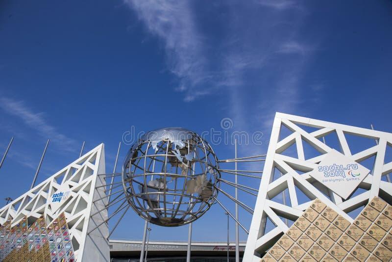 SOCHI, RUSIA - 30 DE MARZO DE 2016: Pared de campeones en el área olímpica foto de archivo libre de regalías