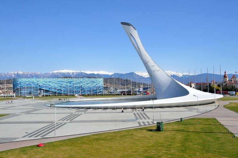 Sochi, Rusia, marzo, 01, 2016, palacio del hielo imágenes de archivo libres de regalías