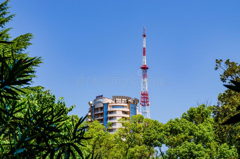 Residential Roof and Repeater Tower stock photos