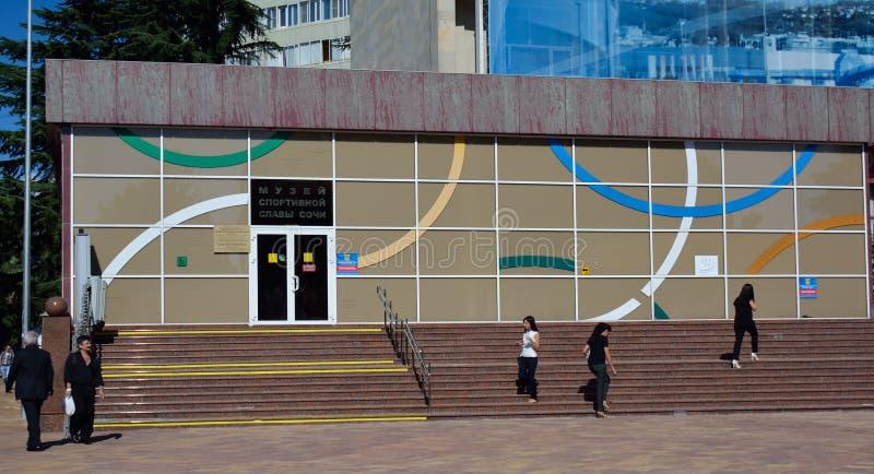 SOCHI-/RUSSIANvereinigung - 22. SEPTEMBER 2014: Schritte zum museu stockfotos