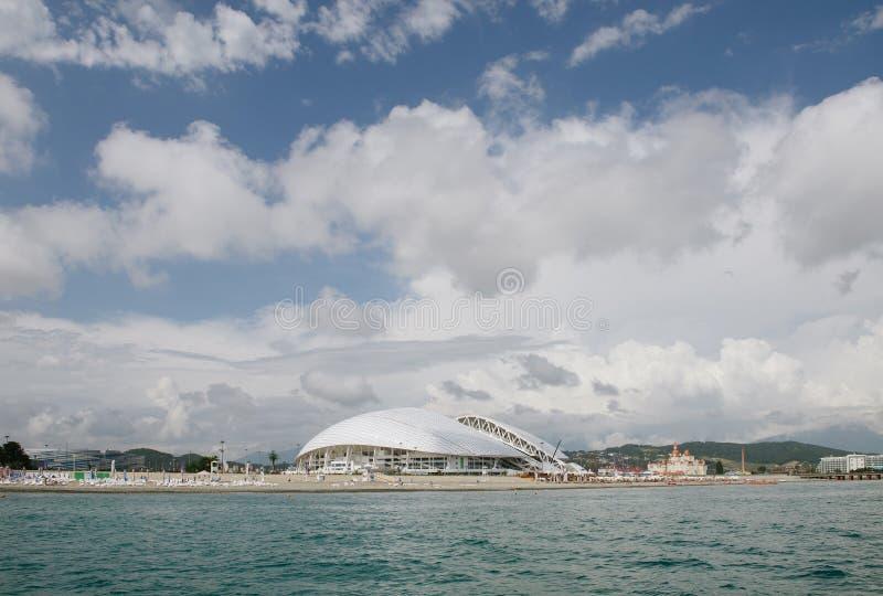 SOCHI RYSSLAND, JUNI 30, 2016: Fisht stadion royaltyfri fotografi