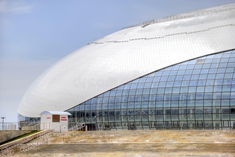 Sochi Stadium Bolshoy lodu kopuła obraz royalty free