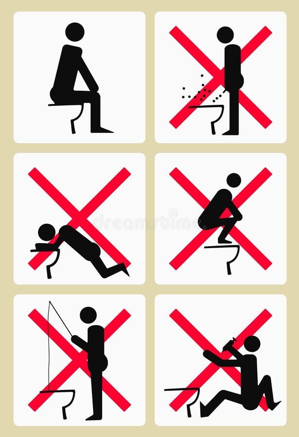 Sochi toalettPictograms stock illustrationer