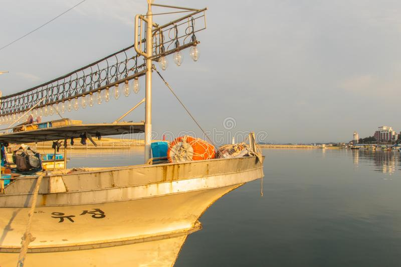 Socho is a fishing harbor with fresh fish stock images