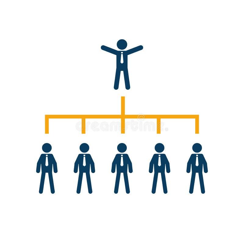 Société d'arbre de diagramme d'association d'entreprises d'entreprise illustration stock