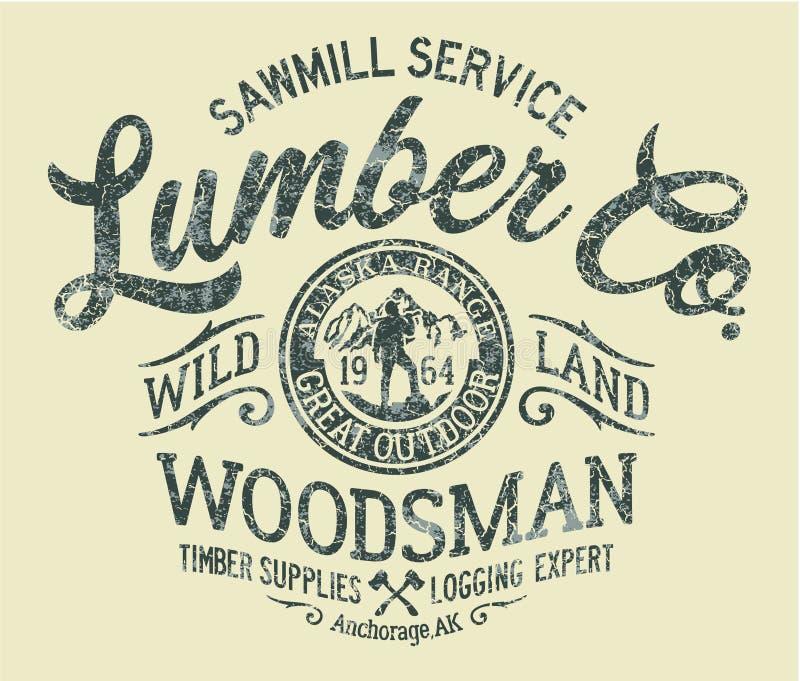 Société de bois de charpente de service de scierie illustration libre de droits