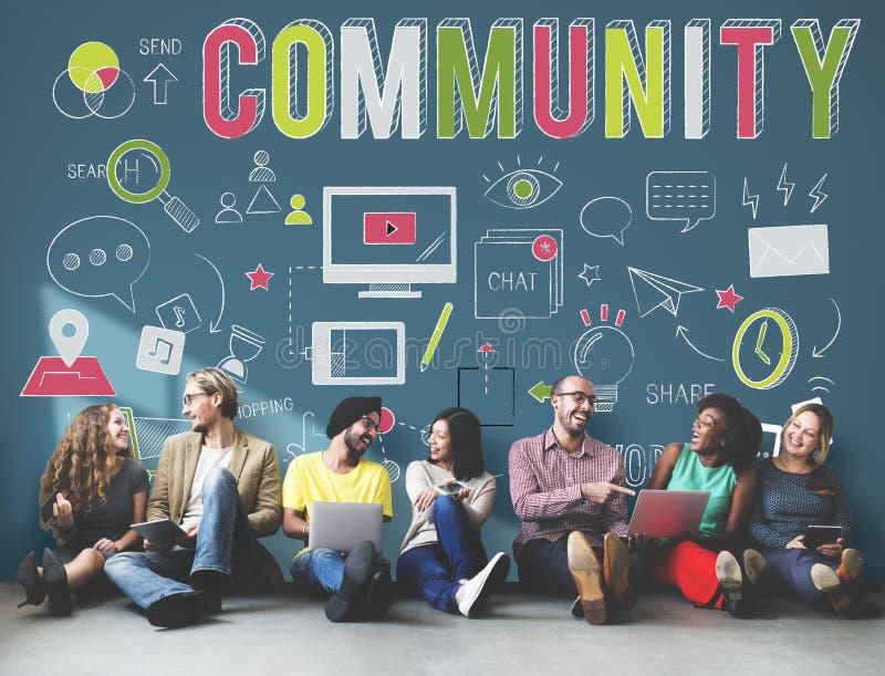 Société de la Communauté partageant le concept de appartenance de communication illustration de vecteur