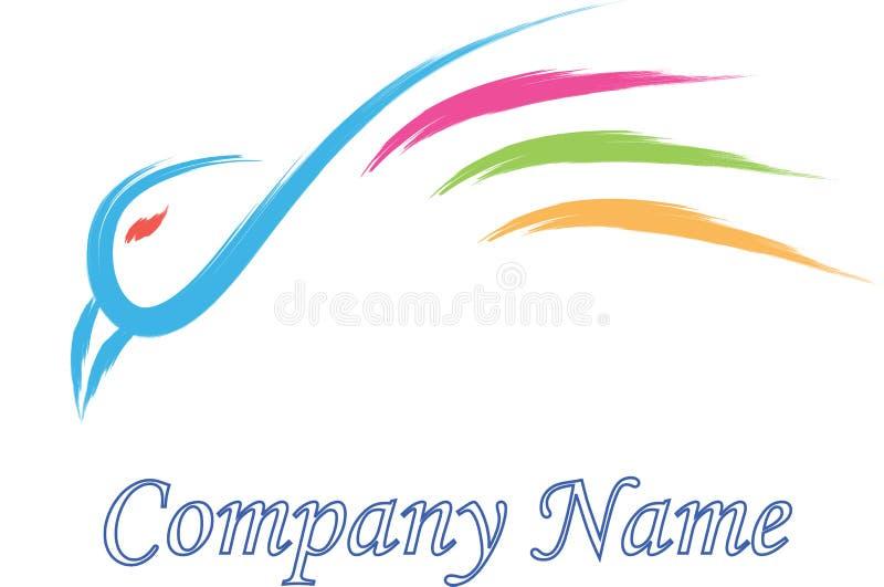 Société de logo d'oiseau illustration stock