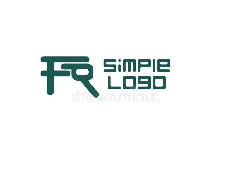 Société iconique ou affaires de logo simple illustration de vecteur