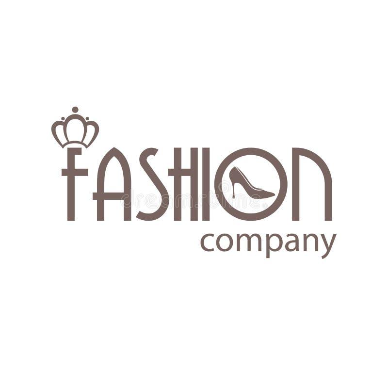 Société moderne de mode de logo illustration de vecteur