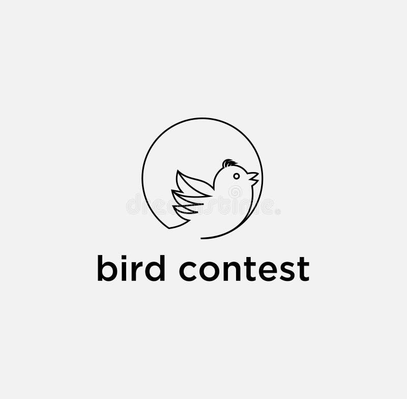 Société-vecteur de logo de conception d'icône d'oiseau illustration libre de droits