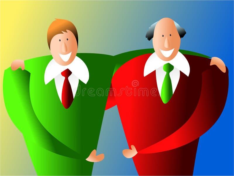 Soci commerciali royalty illustrazione gratis