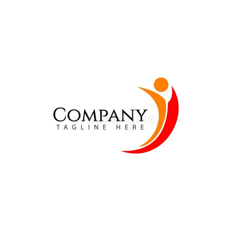 Sociaal Bedrijf Logo Vector Template Design Illustration vector illustratie