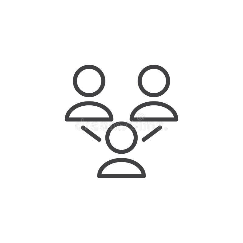 Sociaal het overzichtspictogram van de netwerkgroep vector illustratie