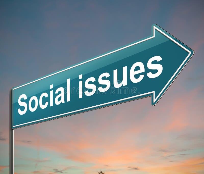Sociaal kwestiesconcept vector illustratie