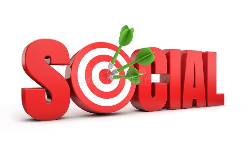 Sociaal marketing doel royalty-vrije illustratie