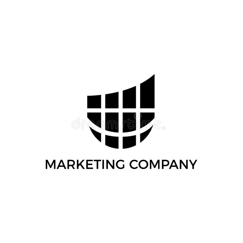 Sociaal marketing embleem, marketing embleem, malplaatje van het Bedrijfsfinanciën het professionele embleem vector illustratie