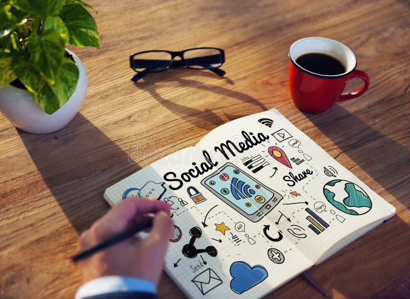 Sociaal Media Communicatie van het Praatjeaandeel Globaal Concept royalty-vrije stock fotografie