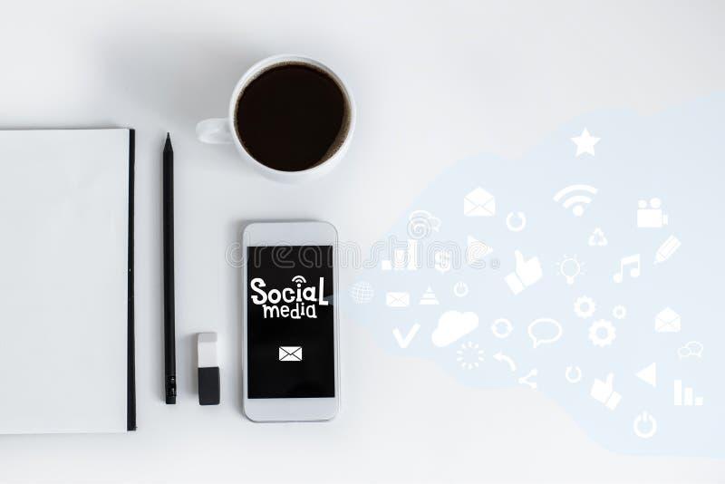 Sociaal media concept stock fotografie