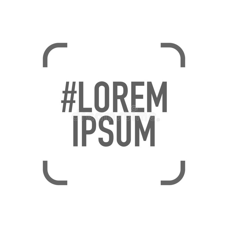 Sociaal media contact die lorem ipsumembleem delen stock illustratie