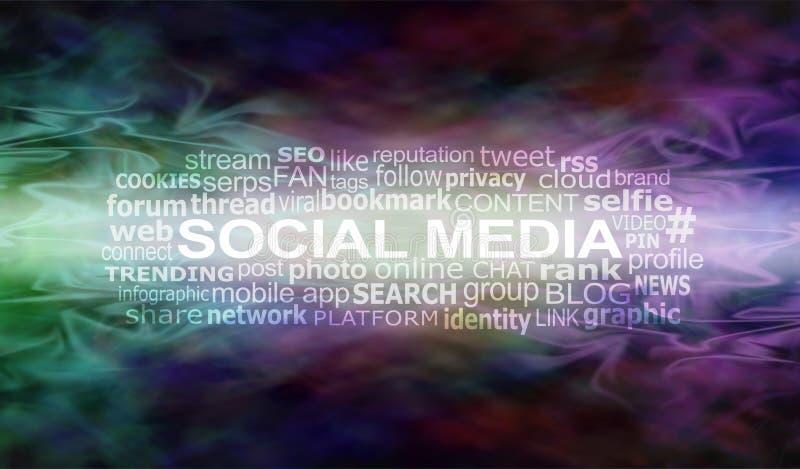 Sociaal Media de Bannerhoofd van de Stroomwebsite royalty-vrije stock foto's